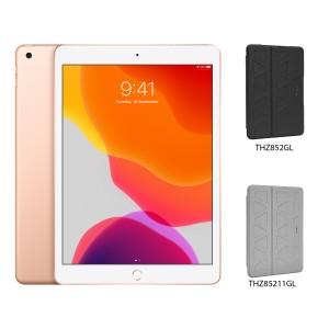 [BUNDLE PACK] Apple iPad 10.2 (WiFi + Cellular, Gold) + Targus Pro-Tek Case With Pencil Holder