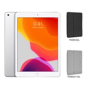 [BUNDLE PACK] Apple iPad 10.2 (WiFi + Cellular, Silver) + Targus Pro-Tek Case With Pencil Holder