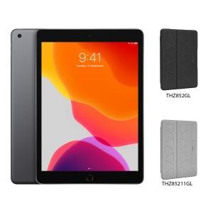 [BUNDLE PACK] Apple iPad 10.2 (WiFi + Cellular, Space Grey) + Targus Pro-Tek Case With Pencil Holder