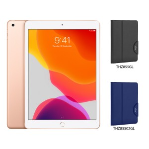 [BUNDLE PACK] Apple iPad 10.2 (WiFi + Cellular, Gold) + Targus VersaVu® Classic Case With Pencil Holder