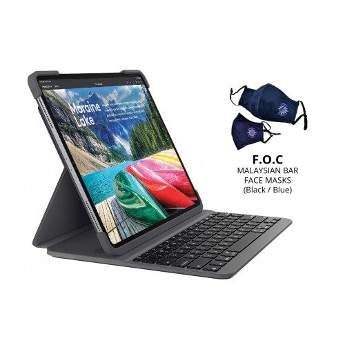 [BAR] Logitech Slim Folio Pro for iPad Pro 12.9-inch (3rd & 4th Gen.)  with Backlit keyboard case with Bluetooth