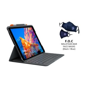 [BAR] Logitech Slim Folio Pro for iPad Pro 11-inch (1st & 2nd Gen.) with Backlit keyboard case with Bluetooth