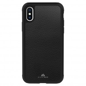 Black Rock Robust Case Real Leather for iPhone XS