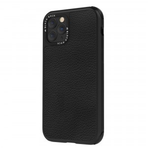 Black Rock iPhone 11 Pro Case - Robust Real Leather