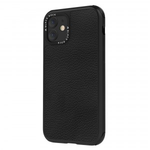 Black Rock iPhone 11 Case - Robust Real Leather