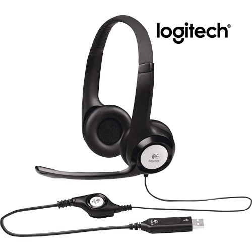 Logitech H390 USB COMPUTER HEADSET with Enhanced Digital Audio and In-Line Controls