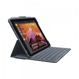 "Logitech Slim Folio Case with Integrated Bluetooth Keyboard & Pencil Holder for iPad 9.7"" (5th & 6th Gen.)"