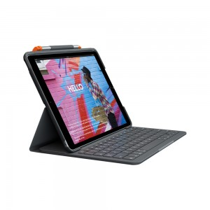 Logitech Slim Folio case for iPad 10.2 (7th & 8th Gen.) with Integrated Bluetooth Keyboard & Pencil Holder