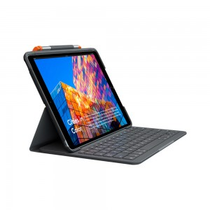 Logitech Slim Folio case for iPad Air (3rd Gen.) with Integrated Bluetooth Keyboard & Pencil Holder