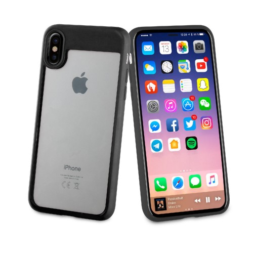 Muvit Case Crystal Bump Edition for Apple iPhone X (Black)