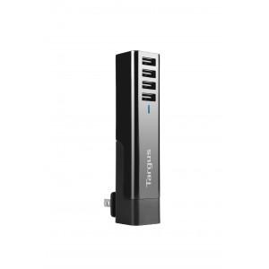 [BAR] Targus USB 4-Way International Fast Charger (Black) (APA750AP-50)