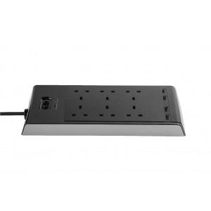 Targus SmartSurge 6 with 4 USB Ports (Black)