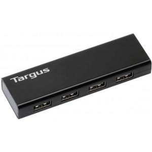 Targus USB 2.0 4-Port Hub with Detachable 60cm Cable (Black) (ACH134AP)