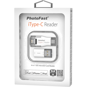 PHOTOFAST Multi Interface Micro SD iType C Reader w/ 64GB Flash