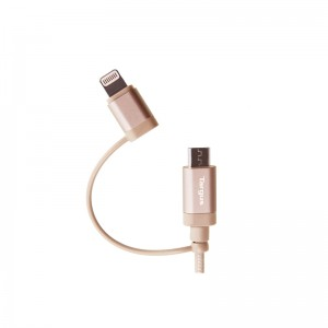 Targus Aluminium Series 2-in-1 (Lightning & Micro USB) Cable 1.2 meter - Gold (ACC99507AP-50)