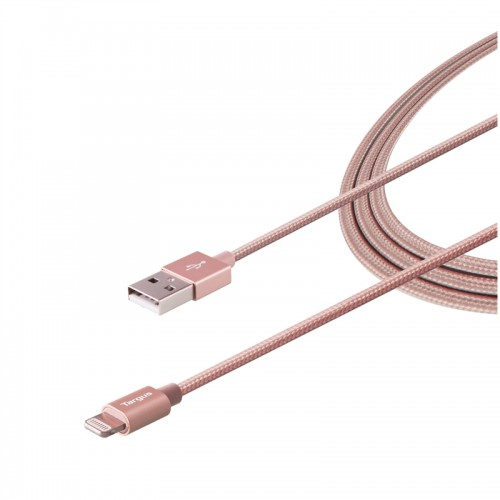 Targus ALU Series Lightning to USB Cable (1.2M) - Rose Gold