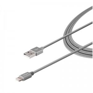 Targus ALU Series Lightning to USB Cable (1.2M) - Space Grey