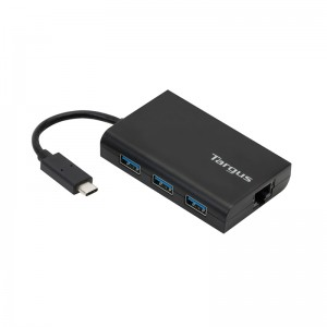 Targus USB-C to USB 3.0 Hub with Gigabit Ethernet (Black) (ACH230AP-50)