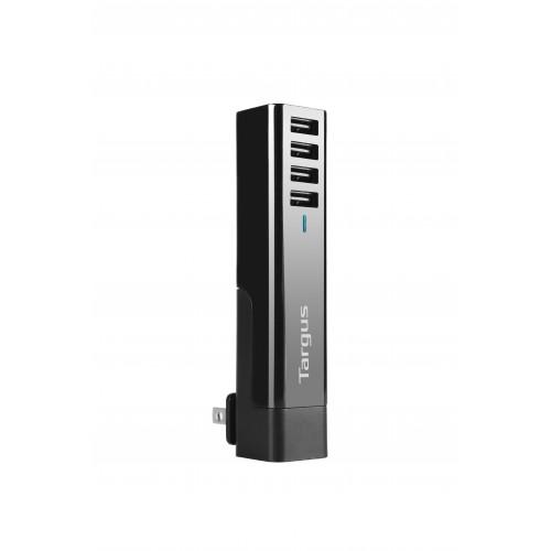 Targus Turbo Quad USB 4-Way International Fast Charger (Black)