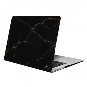 "White Diamonds Protective Marble Cover for Macbook Air 13"" (2018) - Gold Marble"