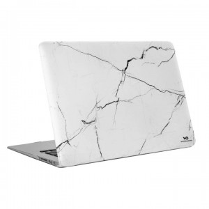 "White Diamonds Protective Marble Cover for Macbook Air 13"" (2018) - White Marble"