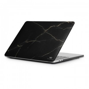"White Diamonds Protective Marble Cover for Macbook Pro 13"" (2018) - Gold Marble"