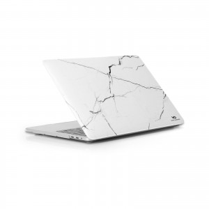 "White Diamonds Protective Marble Cover for Macbook Pro 13"" (2018) - White Marble"