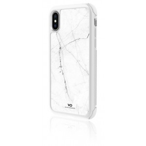 White Diamonds Touch Marble Case for iPhone XS (White)