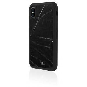 White Diamonds Touch Marble Case for iPhone XS (Black)