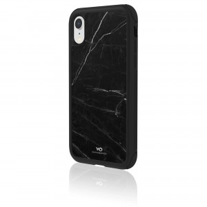 White Diamonds Touch Marble Case for iPhone XR (Black)