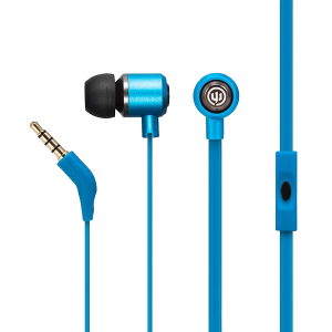 Wicked Audio Panic Wired Earbud w/mic (BlueJay)